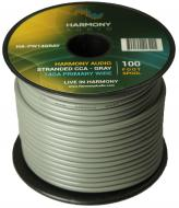 Harmony Audio HA-PW14GRAY Primary Single Conductor 14 Gauge Gray Power or Ground Wire Roll 100 Fe...