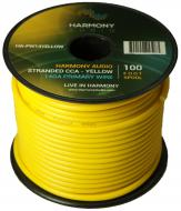 Harmony Audio HA-PW14YELLOW Primary Single Conductor 14 Gauge Yellow Power or Ground Wire Roll 10...
