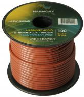 Harmony Audio HA-PW16BROWN Primary Single Conductor 16 Gauge Brown Power or Ground Wire Roll 100 ...