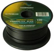 Harmony Audio HA-PW18BLACK Primary Single Conductor 18 Gauge Black Power or Ground Wire Roll 100 ...