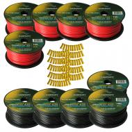 Harmony Audio Primary Single Conductor 12 Gauge Power or Ground Wire - 10 Rolls - 1000 Feet - Red...