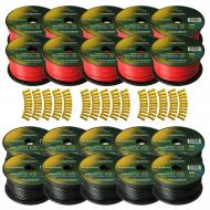 Harmony Audio Primary Single Conductor 12 Gauge Power or Ground Wire - 20 Rolls - 2000 Feet - Red...