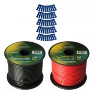 Harmony Audio Primary Single Conductor 14 Gauge Power or Ground Wire - 2 Rolls - 200 Feet - Red &...