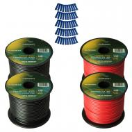 Harmony Audio Primary Single Conductor 14 Gauge Power or Ground Wire - 4 Rolls - 400 Feet - Red &...