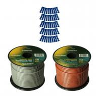 Harmony Audio Primary Single Conductor 14 Gauge Power or Ground Wire - 2 Rolls - 200 Feet - Gray ...