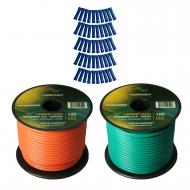 Harmony Audio Primary Single Conductor 14 Gauge Power or Ground Wire - 2 Rolls - 200 Feet - Green...