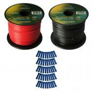 Harmony Audio Primary Single Conductor 16 Gauge Power or Ground Wire - 2 Rolls - 200 Feet - Red &...