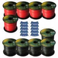 Harmony Audio Primary Single Conductor 16 Gauge Power or Ground Wire - 10 Rolls - 1000 Feet - Red...