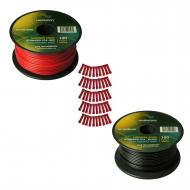 Harmony Audio Primary Single Conductor 18 Gauge Power or Ground Wire - 2 Rolls - 200 Feet - Red &...