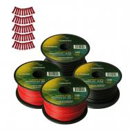 Harmony Audio Primary Single Conductor 18 Gauge Power or Ground Wire - 4 Rolls - 400 Feet - Red &...