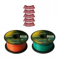 Harmony Audio Primary Single Conductor 18 Gauge Power or Ground Wire - 2 Rolls - 200 Feet - Green...