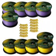 Harmony Audio Primary Single Conductor 12 Gauge Power or Ground Wire - 10 Rolls - 1000 Feet - Yel...