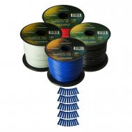 Harmony Audio Primary Single Conductor 16 Gauge Power or Ground Wire - 4 Rolls - 400 Feet - 4 Col...