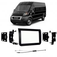 Ram Promaster 2014 2015 2016 2017 2018 Double DIN Stereo Harness Radio Install Dash Kit Package