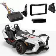 Polaris Slingshot 2015 2016 2017 Single or Double DIN Stereo Radio Install Dash Kit