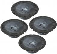"Harmony Audio HA-CMB8 Car Stereo Cabron Midbass Midrange 8"" Speakers - 2 Pairs"