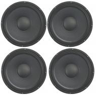 "4x Harmony HA-P12WS16 Replacement 12"" Pro PA 500W Sub / Speaker 16 Ohm Woofer"