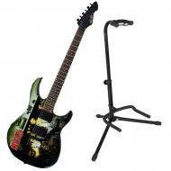 Peavey The Walking Dead Wrap Cover Predator Electric Guitar w/ Instrument Stand