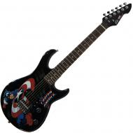 Peavey Rockmaster 3/4 Student Marvel Captain America 21 Fret Maple Neck First Beginner Electric G...