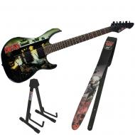 Peavey The Walking Dead Wrap Predator with Cliff Dog Guitar Strap & Stand