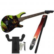 Peavey The Walking Dead Riot Rockmaster with Governor Guitar Strap & Hanger