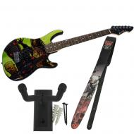 Peavey The Walking Dead Riot Rockmaster with Cliff Dog Guitar Strap & Hanger