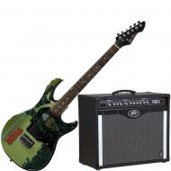 Peavey Bandit 112 Amp and Walking Dead Michonne Splash Guitar