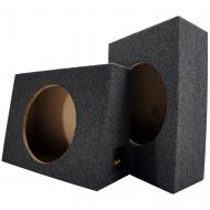 """Single 10"""" Subwoofer Standard Cab Truck Sub Box Enclosure Two Pack (2 Items)"""