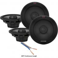 "Alpine R-S65.2 Type R Series 6 1/2"" 200W Speakers - 2 Pair with 20' Wire"