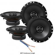 "Alpine S-S65 Car Audio Type S Series 6 1/2"" 320W Speakers - 2 Pair with 20' Wire"