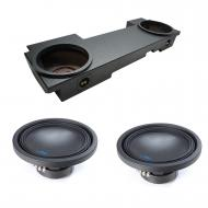 2002-2013 Cadillac Escalade EXT Underseat Alpine Type S S-W12D2 Dual 12 Rhino Coated Sub Box Encl...