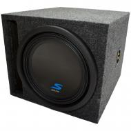 "Universal Car Stereo Slotted S Port Single 12"" Alpine Type S S-W12D4 Sub Box Enclosure - Fin..."