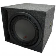 "Universal Car Stereo Slotted S Port Single 8"" Alpine Type R SWR-8D4 Sub Box Enclosure - Fina..."