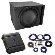 "Universal Car Stereo Vented Port Single 12"" Alpine Type R R-W12D4 Sub Box Enclosure with S-A..."