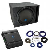 "Universal Car Stereo Vented Port Single 12"" Alpine Type S S-W12D4 Sub Box Enclosure with S-A..."