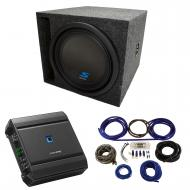 "Universal Car Stereo Slotted S Port Single 8"" Alpine Type S S-W8D4 Sub Box Enclosure with S-..."