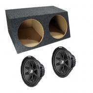 "Kicker Dual Comp C12 12"" Sealed Subwoofer Box 2 Ohm (10C12-4)"
