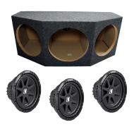 "Triple 12"" Loaded Kicker C12 Subwoofer Box (10C12-4)"