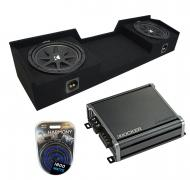 Compatible with 04-15 Nissan Titan King or Crew Kicker Comp C12 Dual 12 Sub Box CXA800.1 Amp
