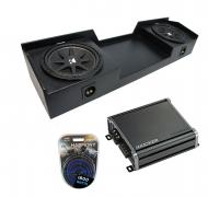 "04-15 Nissan Titan King or Crew Truck Kicker Comp C12 Dual 12"" Rhino Coated Sub Box & CX..."