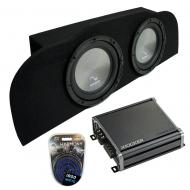 """Compatible with 03-15 Infiniti G35 Coupe Harmony A102 Subwoofer Dual 10"""" Sub Box & CXA800.1"""