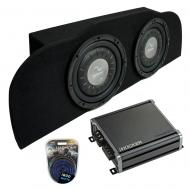 """Compatible with 03-15 Infiniti G35 Coupe Harmony F104 Subwoofer Dual 10"""" Sub Box & CXA800.1"""