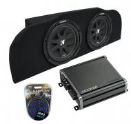 """Compatible with 03-15 Infiniti G35 Coupe Kicker Comp C10 Subwoofer Dual 10"""" Sub Box CXA800.1"""