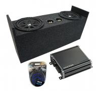 "Compatible with 1987-2006 Jeep Wrangler YJ TJ Kicker Comp C10 Dual 10"" Custom Sub Box Enclos..."