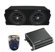 """Compatible with 2004-2008 Mazda RX-8 Coupe Kicker Comp C10 Dual 10"""" Sub Box Enclosure Packag..."""