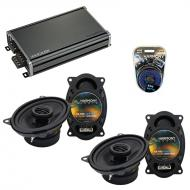 Compatible with BMW 5 Series 1979-1989 Factory Speaker Replacement Harmony (2)R46 & CXA360.4 Amp