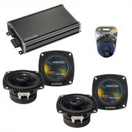Compatible with BMW 6 Series 2005-2008 Factory Speaker Replacement Harmony (2) R4 & CXA360.4 Amp
