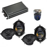 Compatible with BMW 7 Series 1990-1998 Factory Speaker Replacement Harmony (2)R68 & CXA360.4 Amp