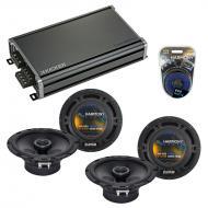 Compatible with Cadillac STS 2005-2011 Factory Speaker Replacement Harmony (2)R65 & CXA360.4 Amp