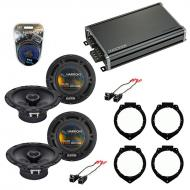 Compatible with Chevy Cobalt 2005-2010 Factory Speaker Replacement Harmony (2)R65 & CXA360.4 Amp